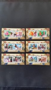 50th anniversary of EUROPA stamps - Guinea - 6x Bl complete ** MNH