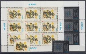 Makedonien stamp Europa CEPT Poster Art set+mini sheet pair 2003 MNH WS112866