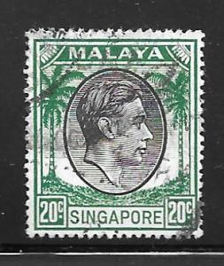 Singapore 12a: 20c George VI, used, F-VF