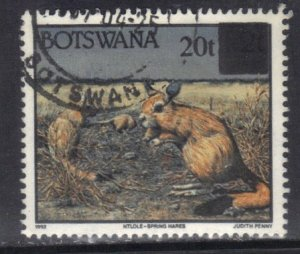 BOTSWANA SC# 595 **USED**  20t over 2t  1994-96    SEE SCAN