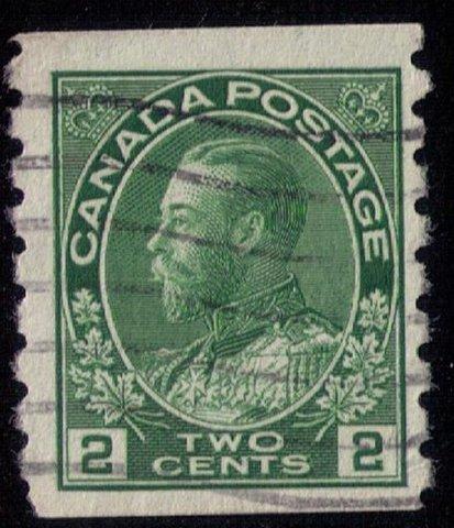 CANADA Sc128  2c GREEN perf 8 vert.F-VF