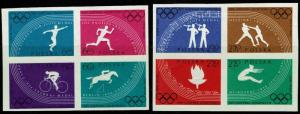 Poland 914a,921a Imperf Block/4 MNH - Rome Olympics (1960)