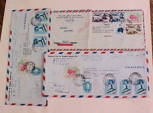 IRAN  SHAH 3 REGISTERED COVERS 1950's TO USA