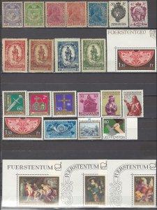 COLLECTION LOT OF #1121 LIECHTENSTEIN 25 MOSTLY MNH ST  1917+ CLEARANCE CV+$33