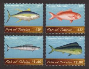 Tokelau Sc# 406-9 MNH Fish of Tokelau