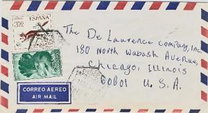 Fernando Poo 3.50P Stamp Day and 10P Great Blue Touraco 1968 Correo Aereo Fer...
