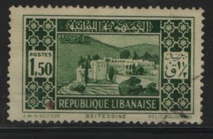 LEBANON, 122, USED, 1930-35, Beit-ed-Din palace