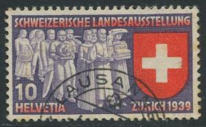 Switzerland - Scott 250 - National Expo. Issue -1939 - FU - Single 10c Stamp