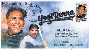 21-207, 2021, Yogi Berra, Event Cover, Pictorial Postmark, Baseball, Charlotte N