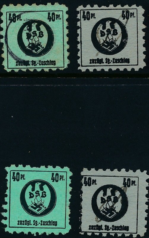 Stamp Germany Revenue WWII War Era Homeowner Association DSB Selection 2 Used