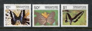 Singapore 387-389, MNH, Insects  Batterflies 1982. x28313
