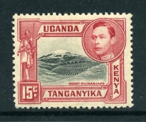 KUT 1938 KGVI 15c perf 13¼ SG 137 black + rose-red mint CV £45