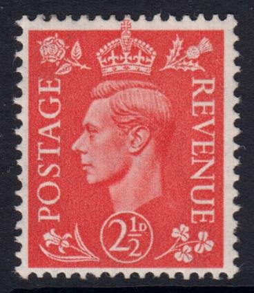 GB KGVI 1950 2.5d Pale Scarlet SG507 Mint Hinged