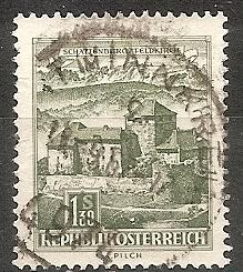 AUSTRIA  695 USED 1967 1.40s SCHATTEN CASTLE