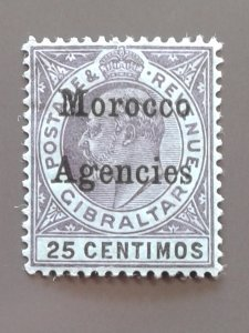 British Offices in Morocco (Spanish Currency) 23 F-VF MHR - Scott $9.25