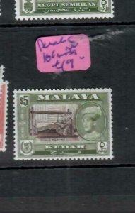MALAYA  KEDAH  (P1606B)  SG 114    MNH
