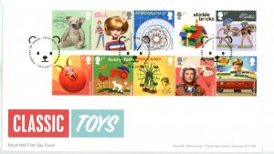 Great Britain 2017 FDC CLASSIC TOYS  Sc# 3638-3647 se tenant strips