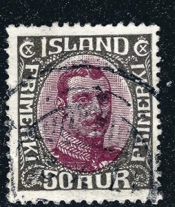 Iceland Attractive Sc#125 Used VF SCV $14...Fill a key spot!!