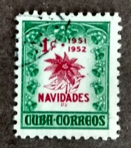 Cuba #469 1c Poinsettia USED (1951)