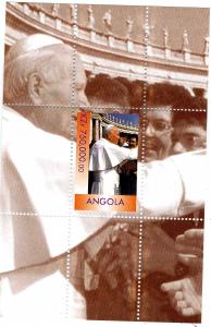 Angola 1999 POPE JOHN PAUL II s/s Perforated Mint (NH)