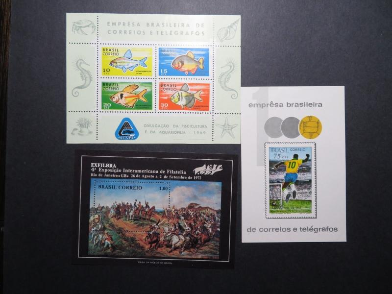 Brazil 9 Better Souvenir Sheets, Mint Hinged, Hinge Remnant, some NGAI - Z11141