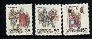 Liechtenstein  952 - 954  MNH cat $ 3.10