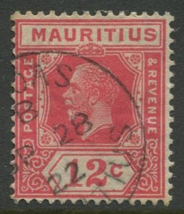 STAMP STATION PERTH Mauritius #190 KGV Definitive Issue FU Wmk 4 Type II 1922