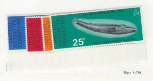 BRITISH ANTARCTIC TERRITORY  # 64-67  VF-MNH  VARIOUS WHALES  CAT VALUE $30