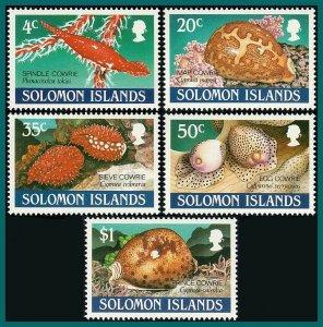 Solomon Islands 1990 Cowrie Shells, MNH #666-670,SG670-SG674