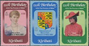 Kiribati 1982 SG183-185 Royal Birthday set MNH