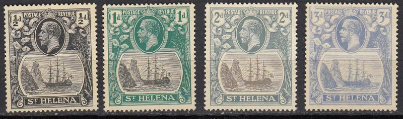 St. Helena - 1912 KGV  small stamp lot - No gum!  - (612)