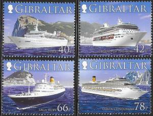 Gibraltar MNH 1052-5 Cruise Ships
