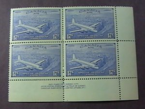 CANADA # CE4-MINT/NH--INSCRIPTION BLOCK OF 4--AIR-MAIL/SPECIAL DELIVERY--1947