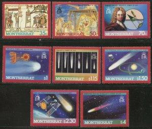 MONTSERRAT Sc#605-614 1986 Halley's Comet Set & 2 S/S Complete OG Mint NH