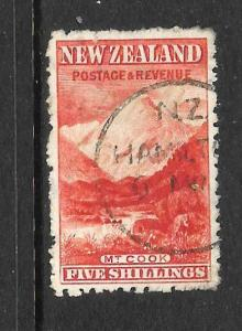 NEW ZEALAND 1903  5/-  PICTORIAL  FU  P11   SG 317a    CP E21d