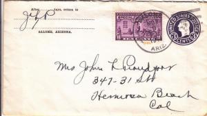 1944, Salome, AZ to Hermosa Beach, CA, See Remark (8737)