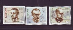 Lithuania Sc805-7 2006 Famous Lithuanians stamps NH