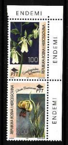 D3-Bosnia & Herz-Scott#223-Unused NH set-Flowers-1995-