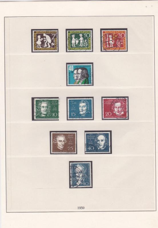 german 1959 used stamps page ref 17439