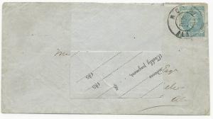 CSA Scott #6 Mobile, AL June 20, 1862 Adversity Cover Unused Insurance Form VF