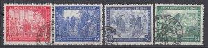 J28722, 1947 & 8  germany sets used #580-1,582-3 leipzig fair