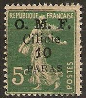 Cilicia 1920 Scott 119 Surcharge on French Stamp MVLH
