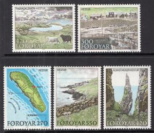 Faroe Islands 161-165 MNH VF