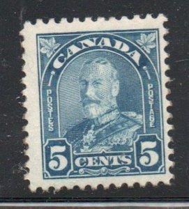 Canada Sc  170 1930 5c dull blue  George V stamp mint NH
