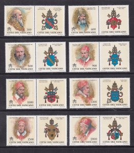 Vatican City   #1095-1102   MNH 1999 popes of the Holy Years