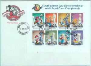 84851 - AZERBAIJAN - Postal History -  FDC COVERS Chess DISNEY 1998