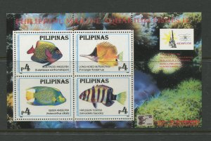 STAMP STATION PERTH Philippines #2412a Fish Souvenir Sheet MNH CV$5.00