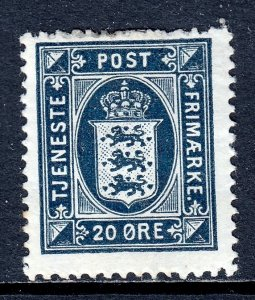 Denmark - Scott #O24 - MH - HH, crease, disturbed gum - SCV $20