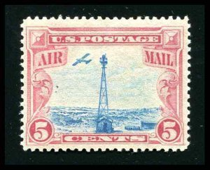 US Air Mail Stamp 1928 C11 5¢ Beacon on Rocky Mountains Mint Never Hinged