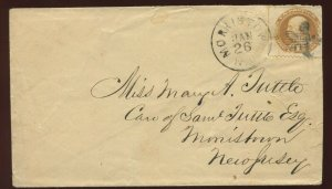 112 Used On  Nice Local Cover  with  *SOLID 5 POINT STAR* MORRISTOWN NJ CANCEL